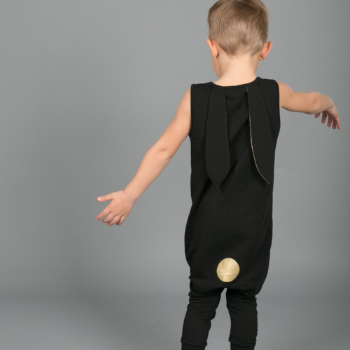 Rip Rap Romper (black)